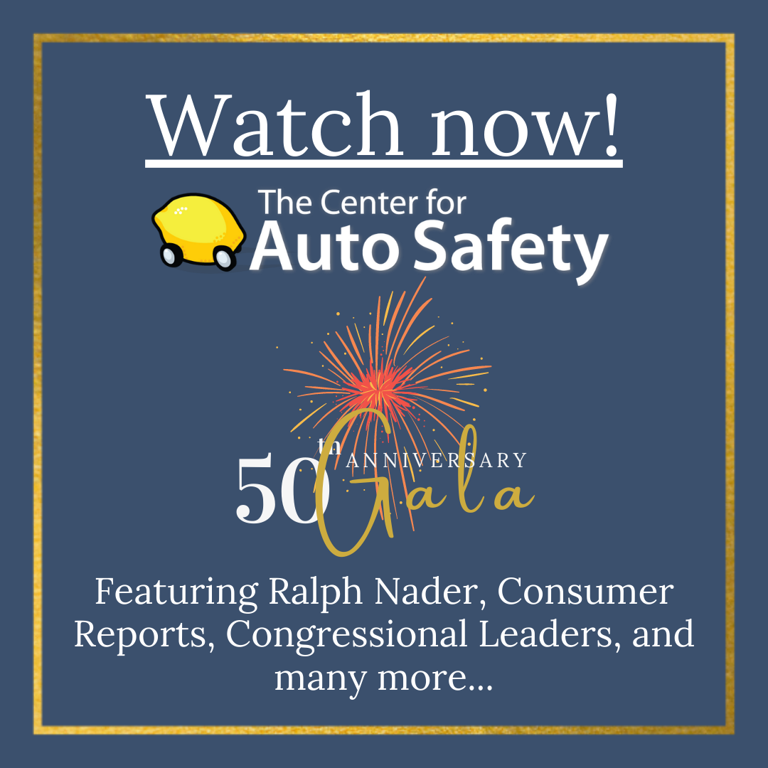 Center for Auto Safety homepage - The Center for Auto Safety