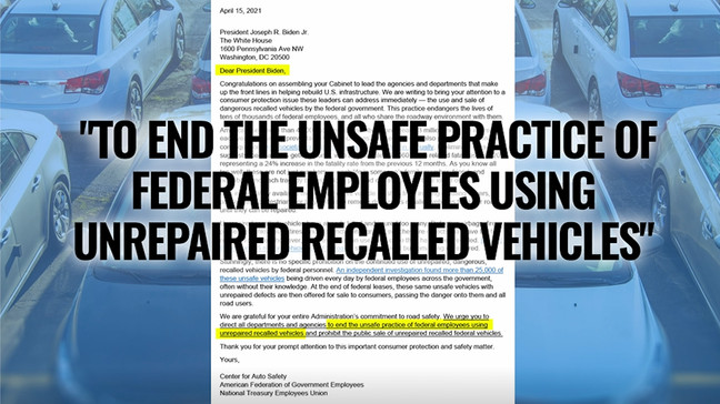 Citing Spotlight on America report, leaders ask White House to stop recalled car use, sale